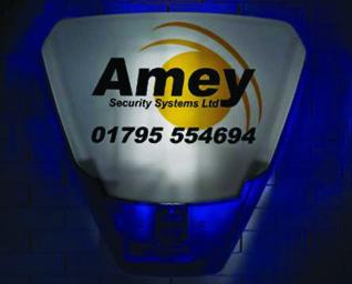 Burglar alarms system deterrent back-lit sounder