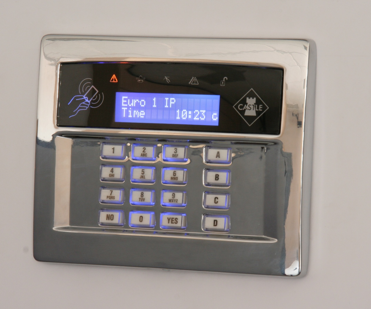 flush castle lcd keypads compatible with all euro panels