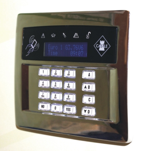 flush fit burglar alarm keypad compatible with all euro panels